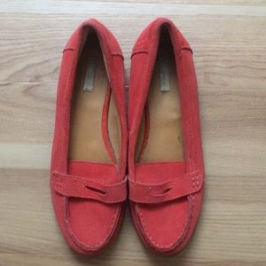 Red-Orange Loafers